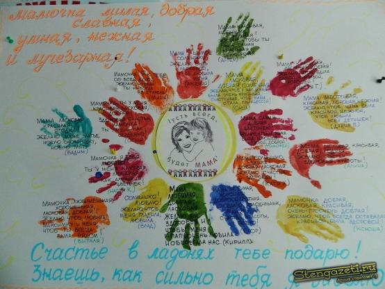 Плакаты своими руками на день рождения мамы